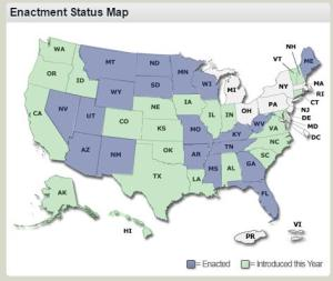 Enactment status map