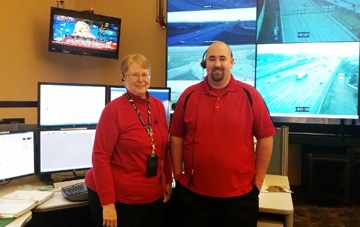 Photo of Jennifer Brown and Shane Write, communications specialists.
