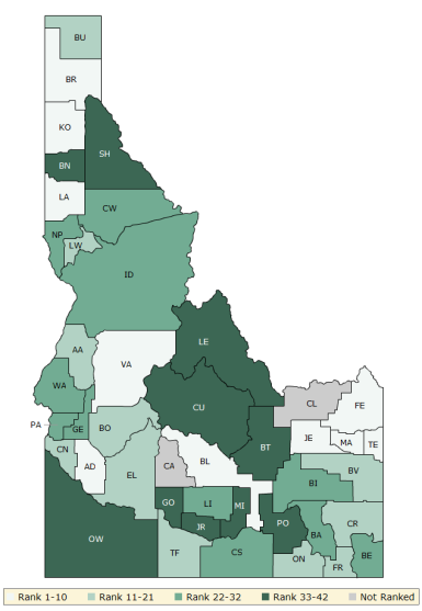 2017 Health Outcomes - Idaho