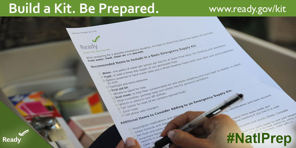 Graphic: National Preparedness Month. Build a Kit.