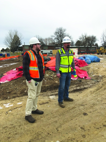 Photo of Dan Asbury at construction site of State Hospital West.